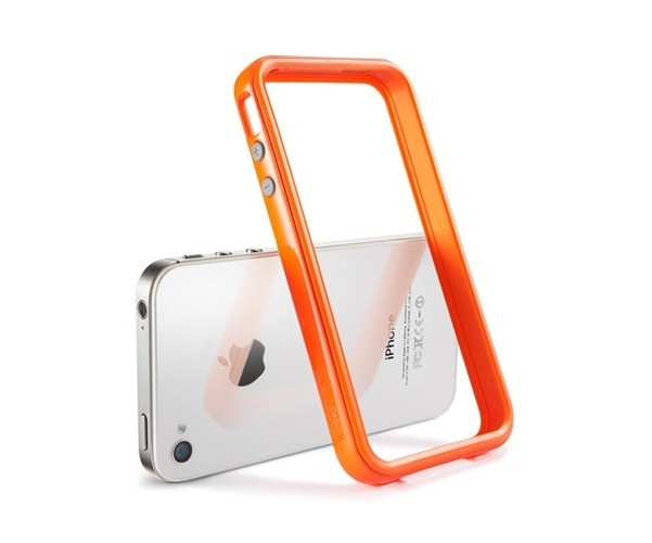 Бампер SGP Neo Hybrid 2S Pastel Series для iPhone 4S/4 + 2 пленки, оранжевый
