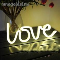 Настенный светодиодный декоративный ночник Неоновая любовь
