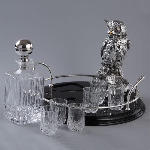 Набор для водки Серебренная сова