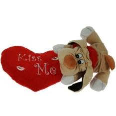 Мягкая игрушка-сувенир Собака с валентинкой