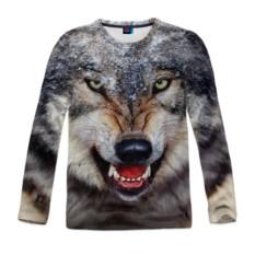 Мужской лонгслив с полной запечаткой Волк