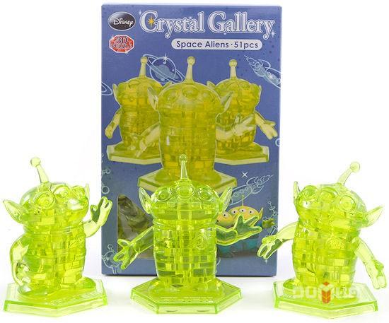 3D головоломка Инопланетяне, зеленые