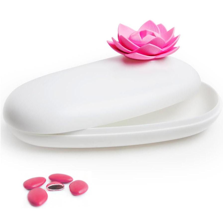 Шкатулка Lotus, белая/розовая