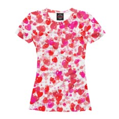 Женская футболка Сердечная фантазия