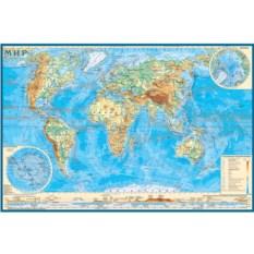 Коврик для творчества «Физическая карта мира»