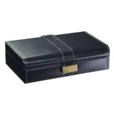Черная шкатулка с ремешком для запонок LC Designs