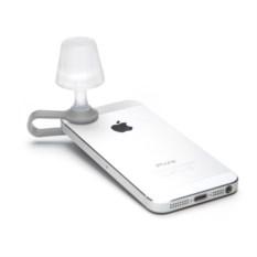 Серый мини-ночник для мобильного телефона Luma