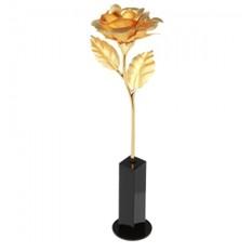 Золотая роза на подставке