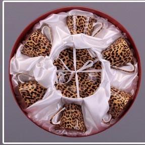 Чайный набор на 6 персон Модерн леопард