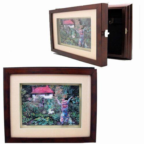 Ключница настенная с объемным изображением Огород