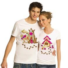 Парные футболки Влюбленные песики