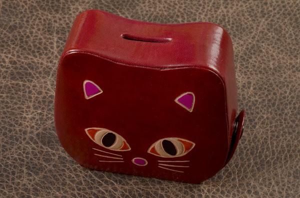 Копилка Бордовая кошка