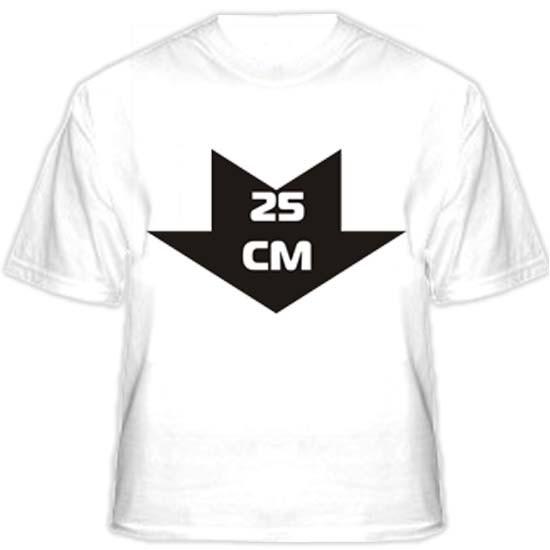Прикольная футболка «25 см»