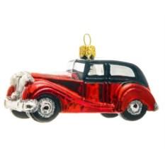 Ёлочная игрушка Красный ретро-автомобиль
