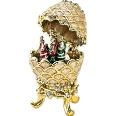 Новогодняя музыкальная шкатулка Яйцо от Mister Christmas