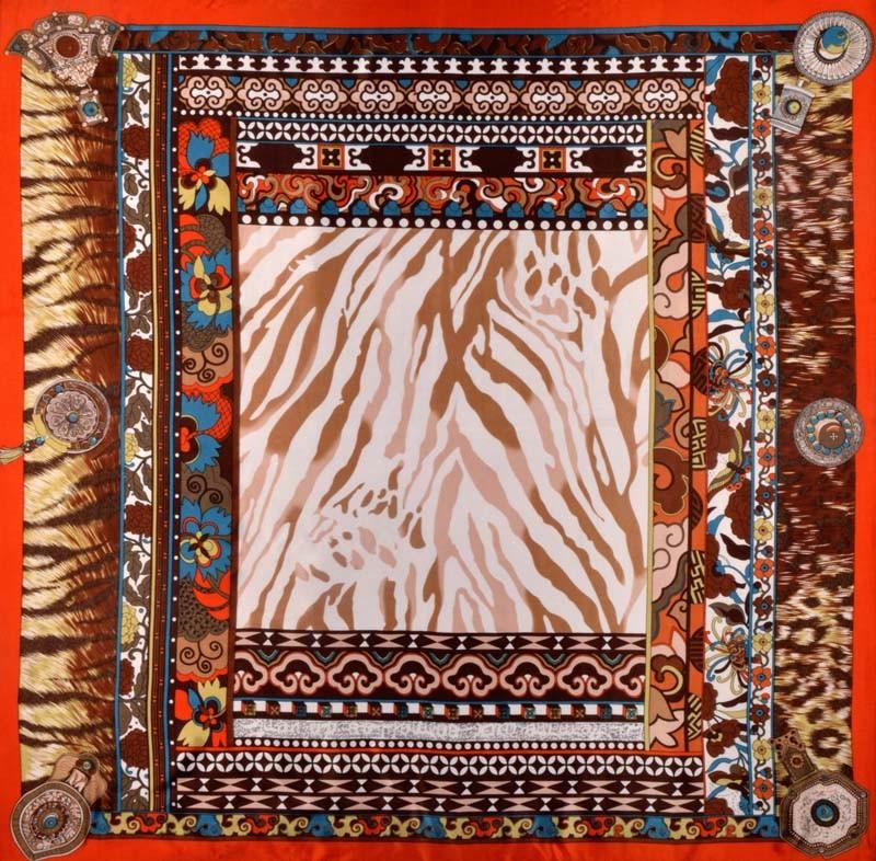Платок из искусственного шелка F006-312-6