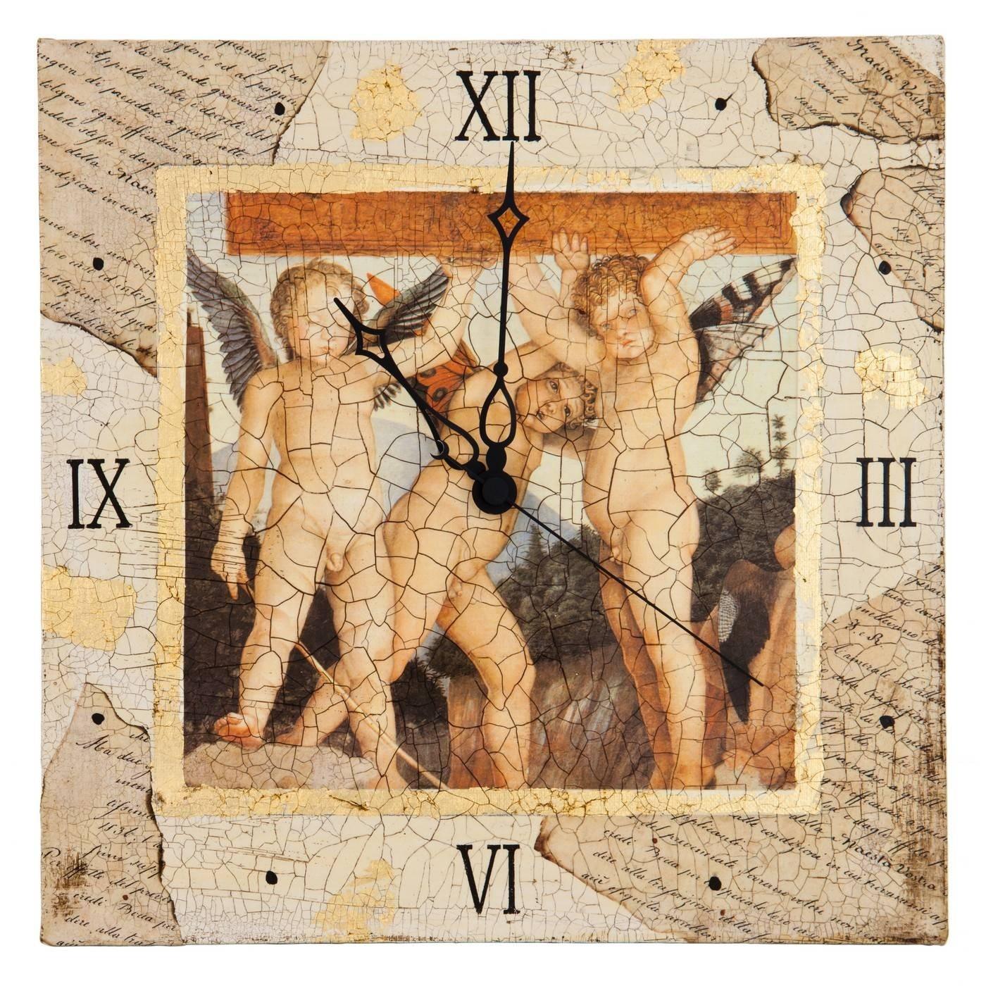 Часы Angel's Trio (холст)