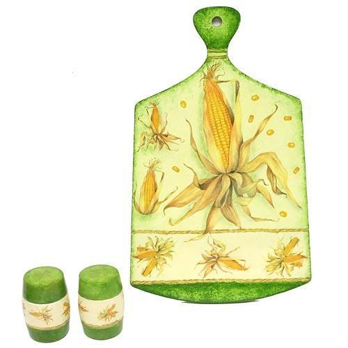 Набор кухонный Кукуруза (доска, солонка, перечница)
