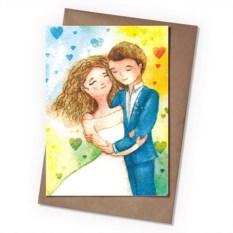 Поздравительная открытка Свадебная