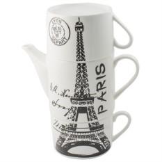 Чайник с двумя кружками Париж Paris