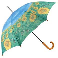 Полуавтоматический зонт-трость Подсолнухи