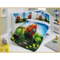 Детский комплект в кровать с бортиками V10