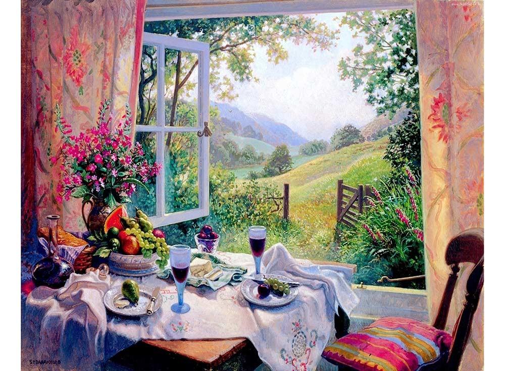Картины по номерам «Обед у открытого окна»