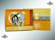 Серебряная погремушка Слон на кольце
