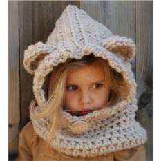 Детская шапка-шарф Медвежонок