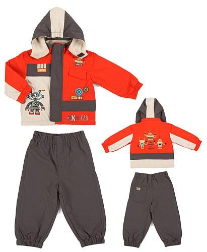 Комплект P&T куртка и полукомбинезон, цвет: красный