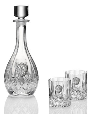 Графин и 2 стакана для виски по 300 мл