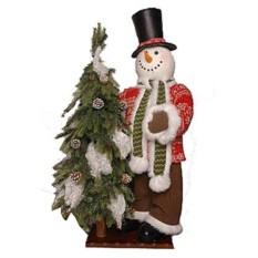 Новогоднее интерьерное украшение Снеговик