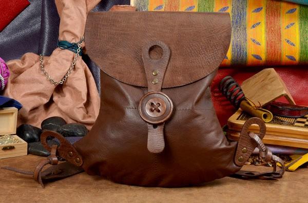 Коричневый кожаный рюкзак ручной работы LUNA