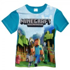 Футболка Minecraft. Стив с киркой
