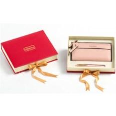 Подарочный набор: ручка, портмоне (экокожа)