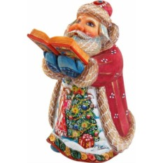 Игрушка Дед Мороз с книгой от Mister Christmas