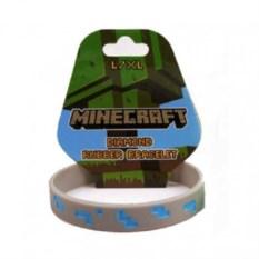 Силиконовый браслет Алмазный блок из Майнкрафт