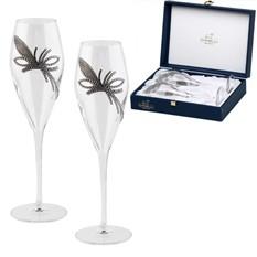 Набор бокалов для шампанского Королевский цветок