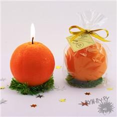 Декоративная свеча «Новогодний апельсин»