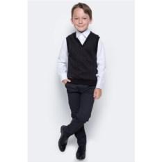 Черный жилет для мальчика Nota Bene с V-образным вырезом