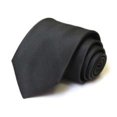 Однотонный черный мужской галстук
