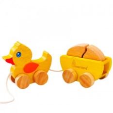 Каталка Утка с яйцом