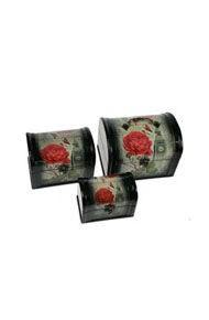 Набор сундучков из 3-х штук Роза