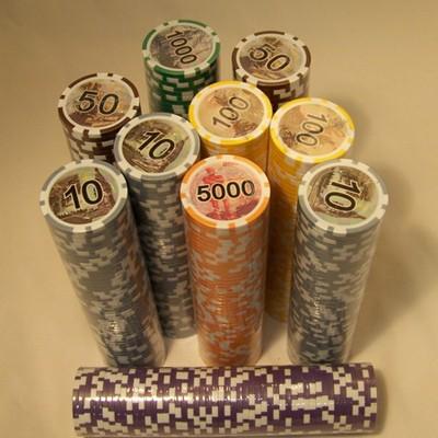 Набор для покера кейс 500 фишек РУБЛИ