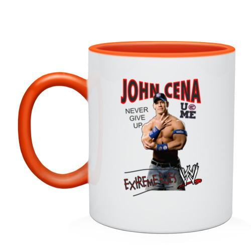Двухцветная кружка John Cena Extreme Rules