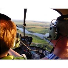 Урок пилотирования вертолета Robinson R44