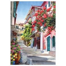Картина-раскраска по номерам на холсте Лето в Греции