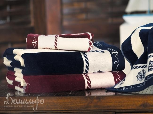 Полотенце Пусула, бордовое, 70х140 см