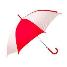 Бело-красный полуавтоматический зонт