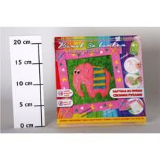 Набор для детского творчества Картина из пряжи